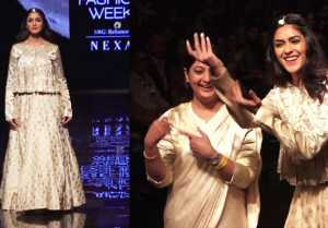 Mrunal Thakur DANCES during ramp walk at Lakme Fashion Week 2019;Watch video