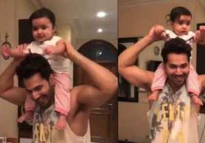 Varun Dhawan shares playtime video with niece after returns to Mumbai; Watch Video