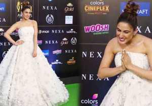 Sara Ali Khan looks gorgeous in white princess gown at IIFA 2019; Watch video