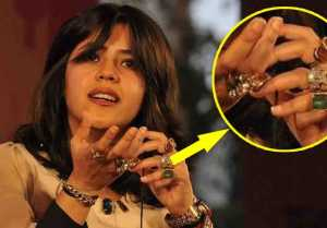 Ekta Kapoor reveals secrete about finger rings and stones ; Check Out Here