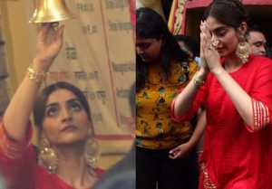 Sonam Kapoor seeks blessings at Shani Temple for success of he Zoya Factor