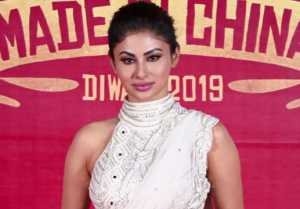 Mouni Roy wins hearts with her all white look at Made in China trailer launch