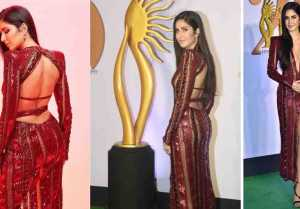 Katrina Kaif rocks on the green carpet of IIFA 2019; Watch video