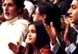Sara Ali Khan's childhood photo with Abhishek Bachchan & Amitabh,goes viral
