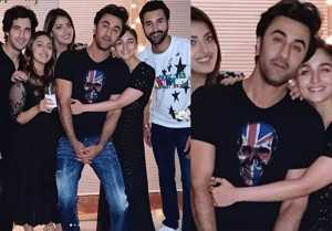 Alia Bhatt HUGS Ranbir Kapoor in Akansha Ranjan birthday party