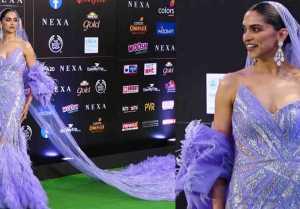 Deepika Padukone looks in purple ruffled gown at IIFA awards night; Watch video