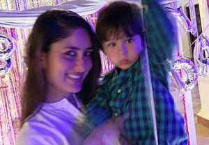 Kareena Kapoor Khan & Taimur Ali Khan's adorable pic from her birthday bash