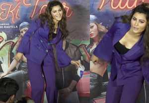 Urvashi Rautela's crazy dance during her album Bijli Ki Taar song launch;Watch video