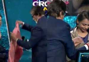 KBC 11: Amitabh Bachchan shows care for contestant Laboni Basu during show; Check out