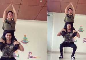 Divyanka Tripathi & Vivek Dahiya's latest workout video  wins your heart; Watch video