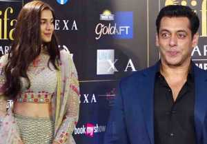 Salman Khan's grand entry at IIFA awards with Dabangg 3 Debutante Saiee Manjrekar