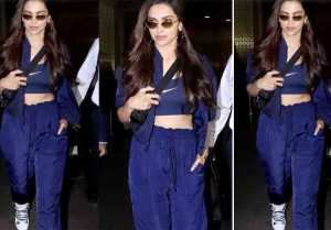 Deepika Padukone stuns in super cool look at Mumbai airport; Watch video
