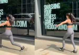 Navya Naveli Nanda's workout in New York streets;Watch video