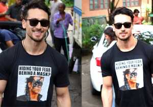 Tiger Shroff trolls to Hrithik Roshan by wearing this T-Shirt;Watch video