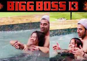 Bigg Boss 13: Paras Chhabra, Shehnaz Gill, Mahira Sharma make fun in swimming pool
