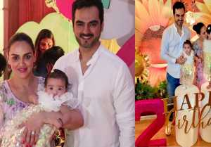 Esha Deol celebrates Radhya's second birthday with Miraya & Bharat Takhtani; Watch video