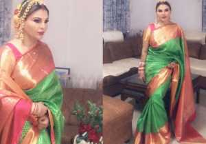 Rakhi Sawant celebrates her first Karwa Chauth for NRI husband