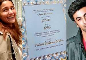 Alia Bhatt finally reacts to viral wedding card with Ranbir Kapoor; Watch video