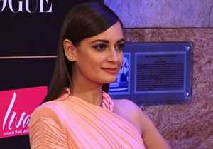 Dia Mirza looks elegant in pink gown at Vogue Women Of The Year;Watch video