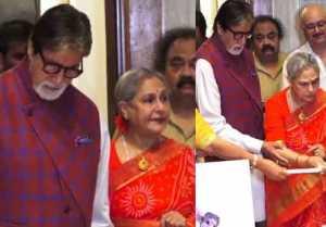 Amitabh Bachchan & Jaya Bachchan attend exhibition together; Watch video