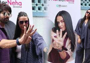 Neha Dhupia shoots with Shahid Kapoor for her show No Filter Neha
