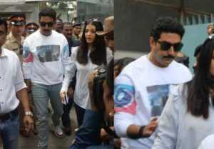 Aishwarya Bachchan, Abhishek & Jaya Bachchan cast their Vote in Mumbai