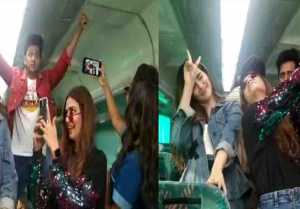 Housefull 4: Kriti Sanon, Pooja Hegde & other stars make fun at Special Train