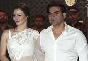 Arbaaz Khan & his girlfriend Giorgia Adriani attend Arpita Aayush anniversary party