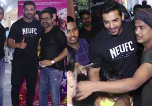 Pagalpanti Movie Screening : John Abraham seen in fun mood during film Screening