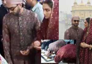 Deepika Padukone & Ranveer Singh seek blessings from Golden Temple on first anniversary