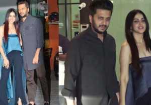 Ritesh Deshmukh & Genelia D'Souza looks perfect at Arpita Aayush anniversary party