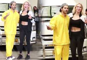 Varun Dhawan spotted with WWE Charlotte Flair in Mumbai |Watch Video