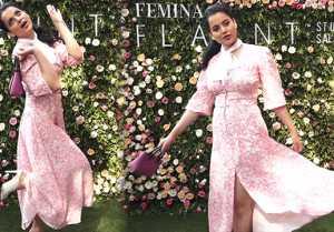 Kangana Ranaut looks sizzling in floral look at Femina Flaunt Beauty Studio; Watch video