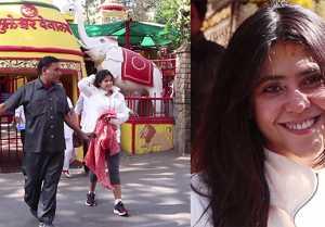 Ekta Kapoor seek blessings from Shani Temple;Watch video