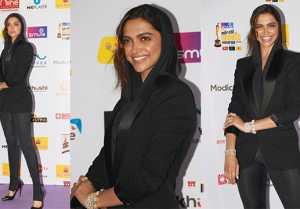 Deepika Padukone Look so stunning black hoodie dress at Red Carpet