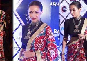 Malaika Arora looks Beautiful in ethnic saree at Dadasaheb Phalke Awards 2020