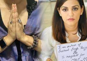 Sushant Singh Rajput's sister posted post prayer photo  #GlobalPrayers4SSR