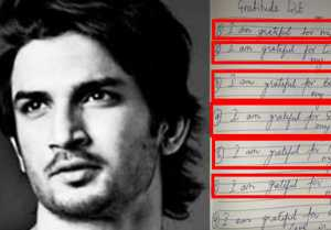 Sushant case:Rhea's lawyer release diary page with hand written gratitude note of Sushant