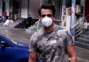 Sonu Sood spotted AT Clinic in Andheri ; Watch Video