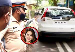Sara Ali Khan leaves for NCB office to be questioned in drugs case