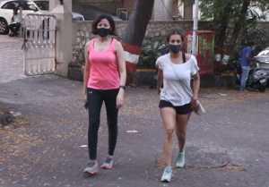 Malaika Arora spotted at Bandra post Covid-19 recovery; Watch Video