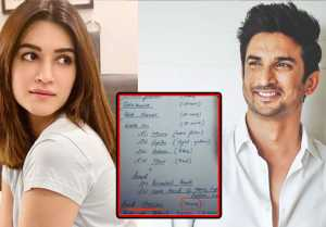 Sushant's notes recovered by NCB, Sushant wrote about meeting Kriti Sanon