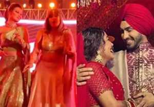 Neha Rohan wedding: urvashi rautela and urvashi dholakia dance on song urvashi