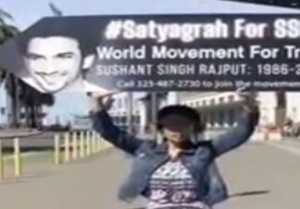 Satyagraha for Sushant Car Rally Parades Down California Streets