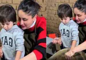 Taimur Ali Khan making mud pots with mom Kareena Kapoor Khan