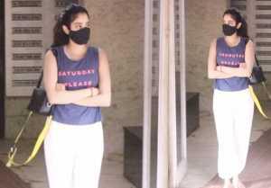 Jhanvi Kapoor snapped at Pilates Bandra