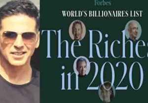 Akshay Kumar became sixth highest paid actor on on Forbes list 2020