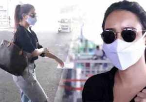 Bollywood Actress Neha Sharma Spotted at aiport
