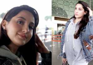 Nora Fatehi spotted at Mumbai airport