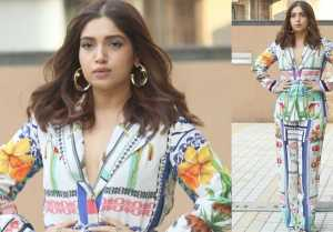 Bollywood Actress Bhumi Pednekar snapped at Juhu